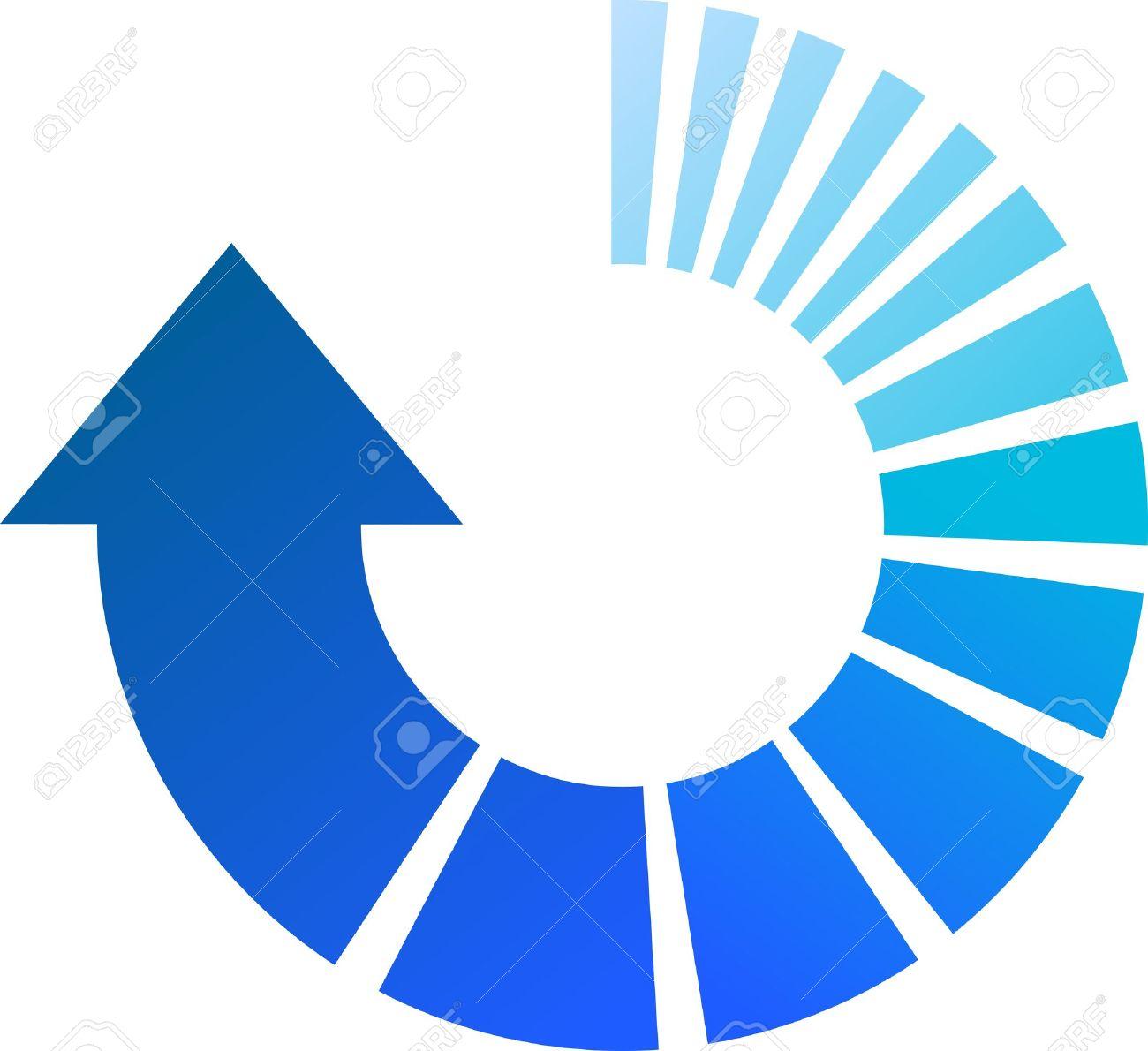 a colourful blue vector circular arrow illustration royalty free rh 123rf com circle arrow vector clipart circle arrow vector free download