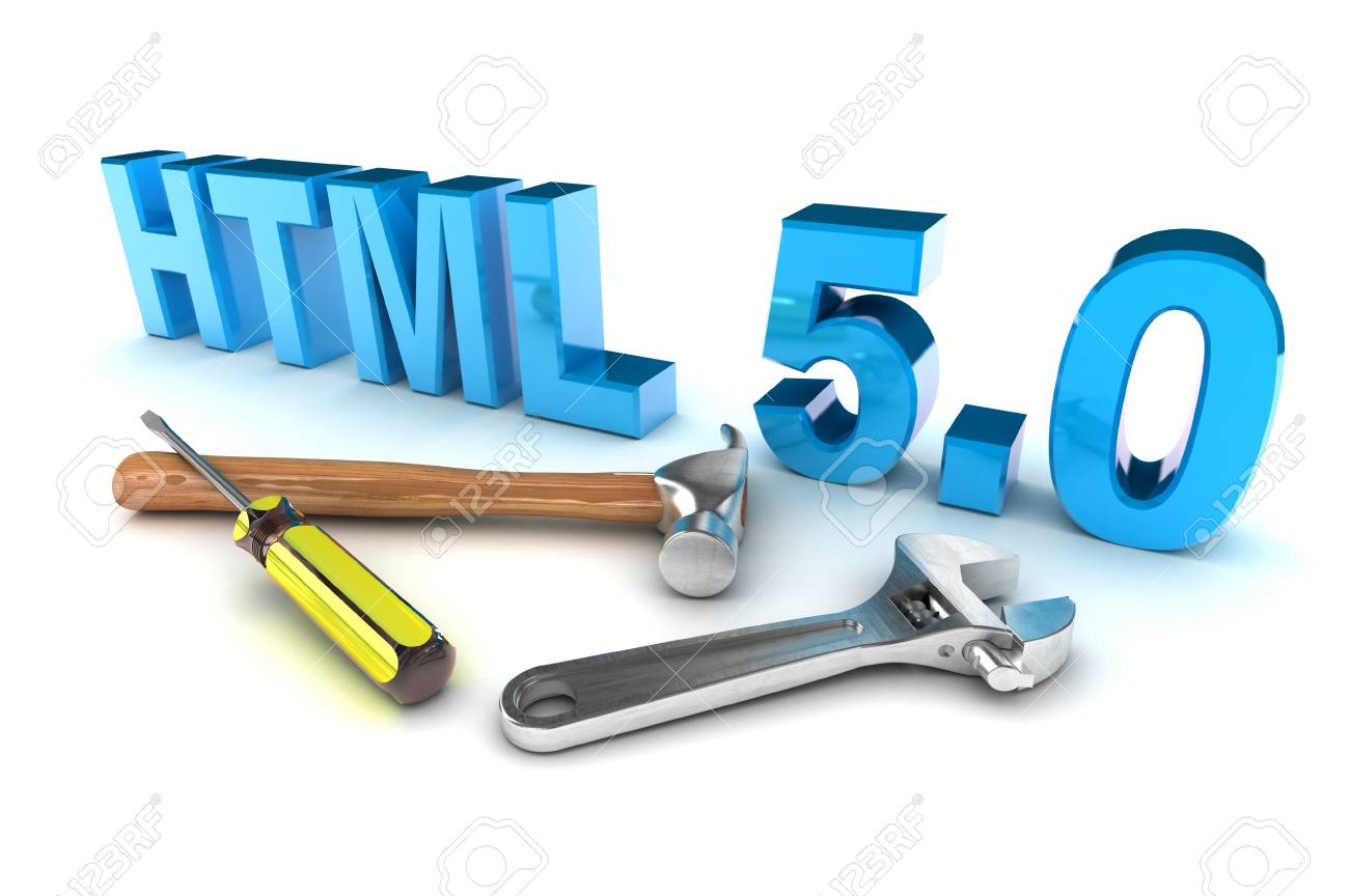 A Colourful 3d Rendered HTML 5 Tools Concept Illustration Stock Illustration - 20364440