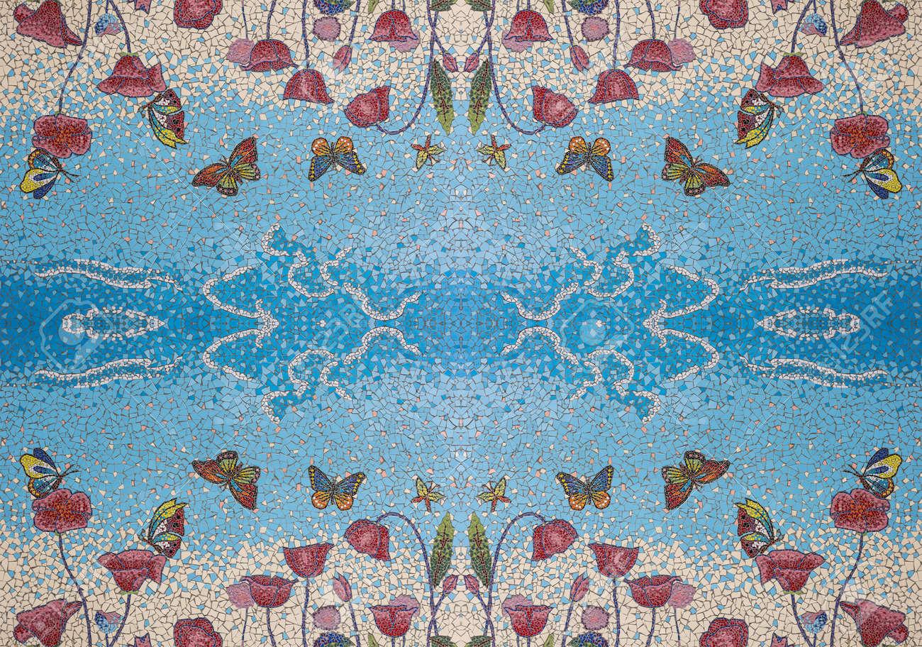 Seamless Mosaic Tiles Pattern, Modern Stylish Texture. Stock Photo ...