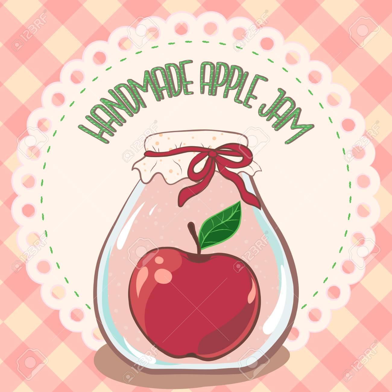 Apple Jam Label Printable Jar Label Template For Package Design