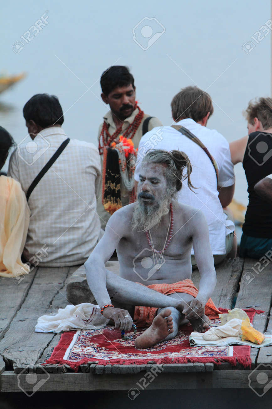 Holy Sadhu in Varanasi Stock Photo - 29517183