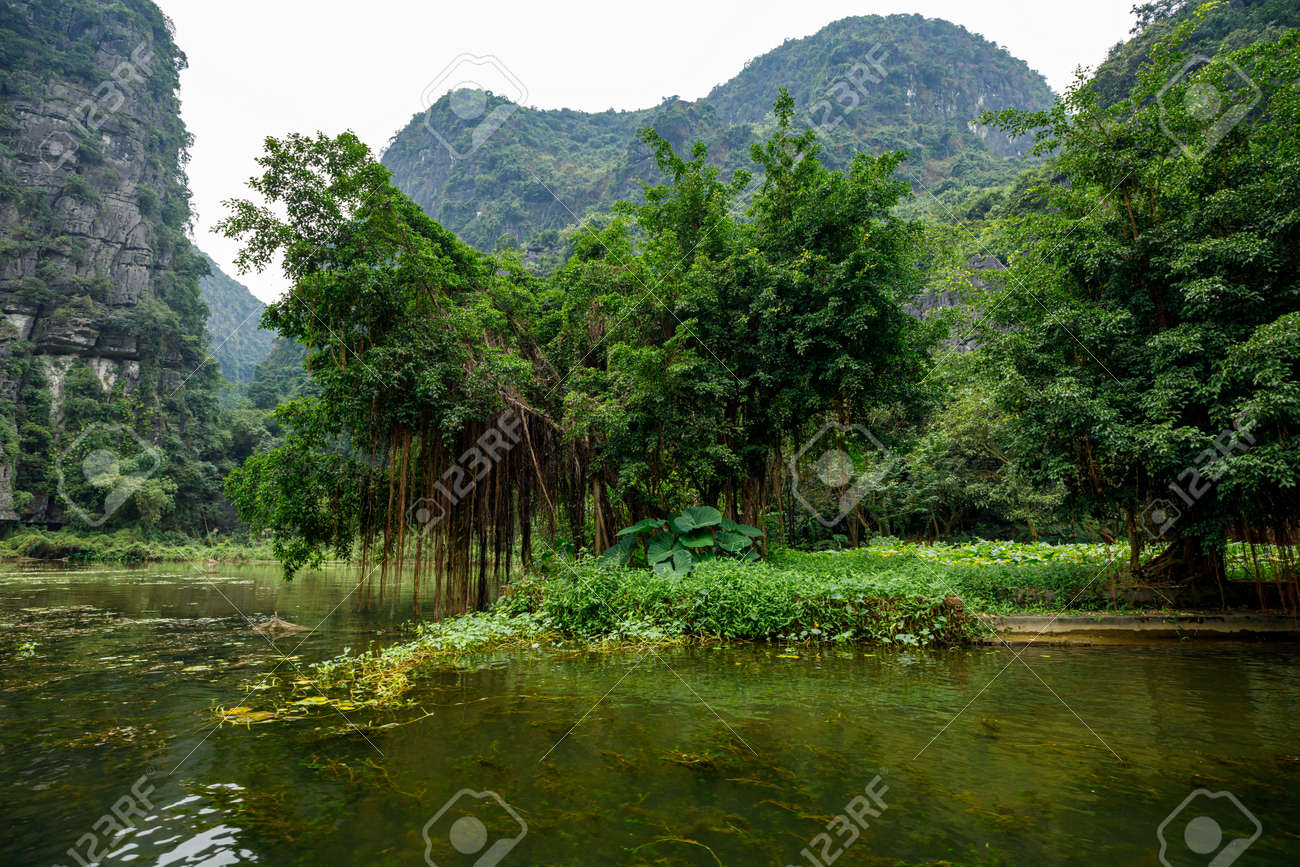 The Landscape of Ninh Binh with the Caves of Tam Coc and Trang An - 155010444