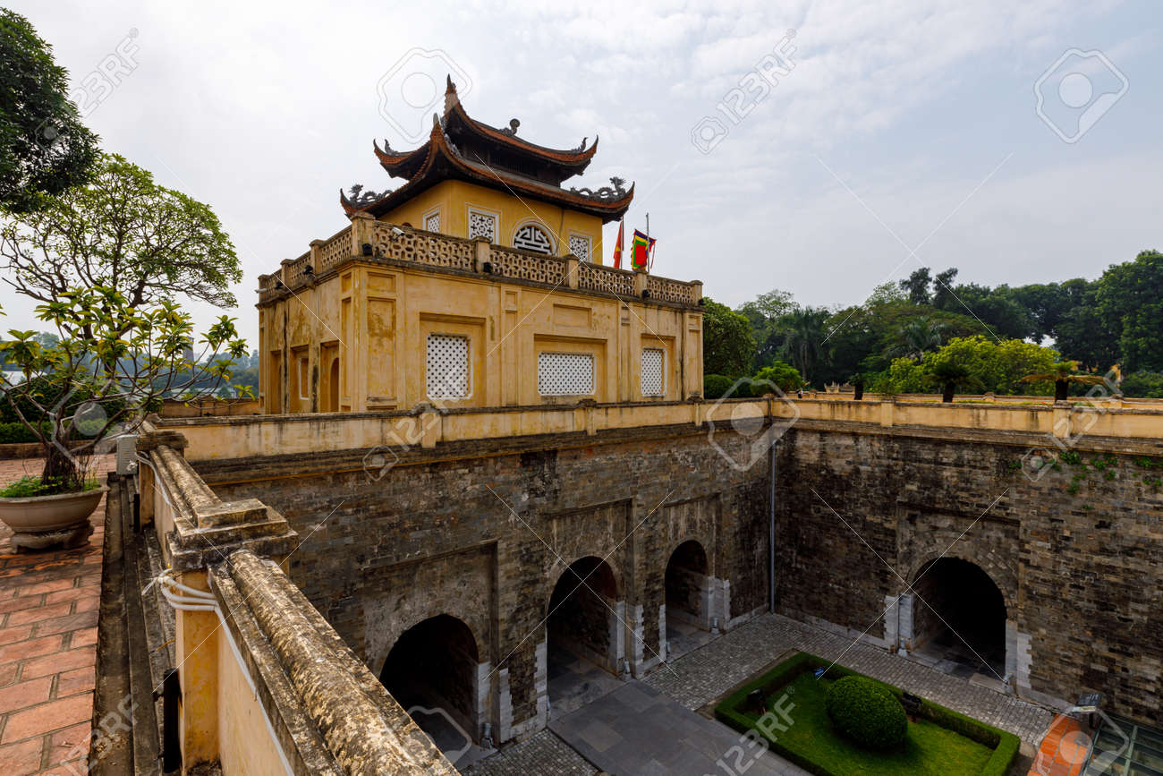 The citadel of Hanoi in Vietnam - 153689889