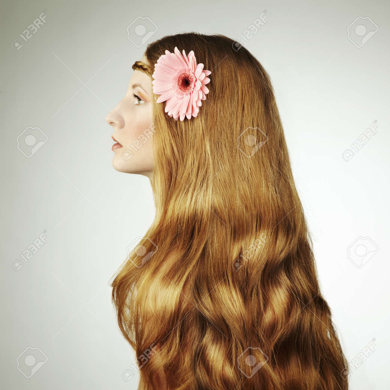 Portrait of young beautiful woman with long magnificent hair  Fashion photo Stock Photo - 12914204