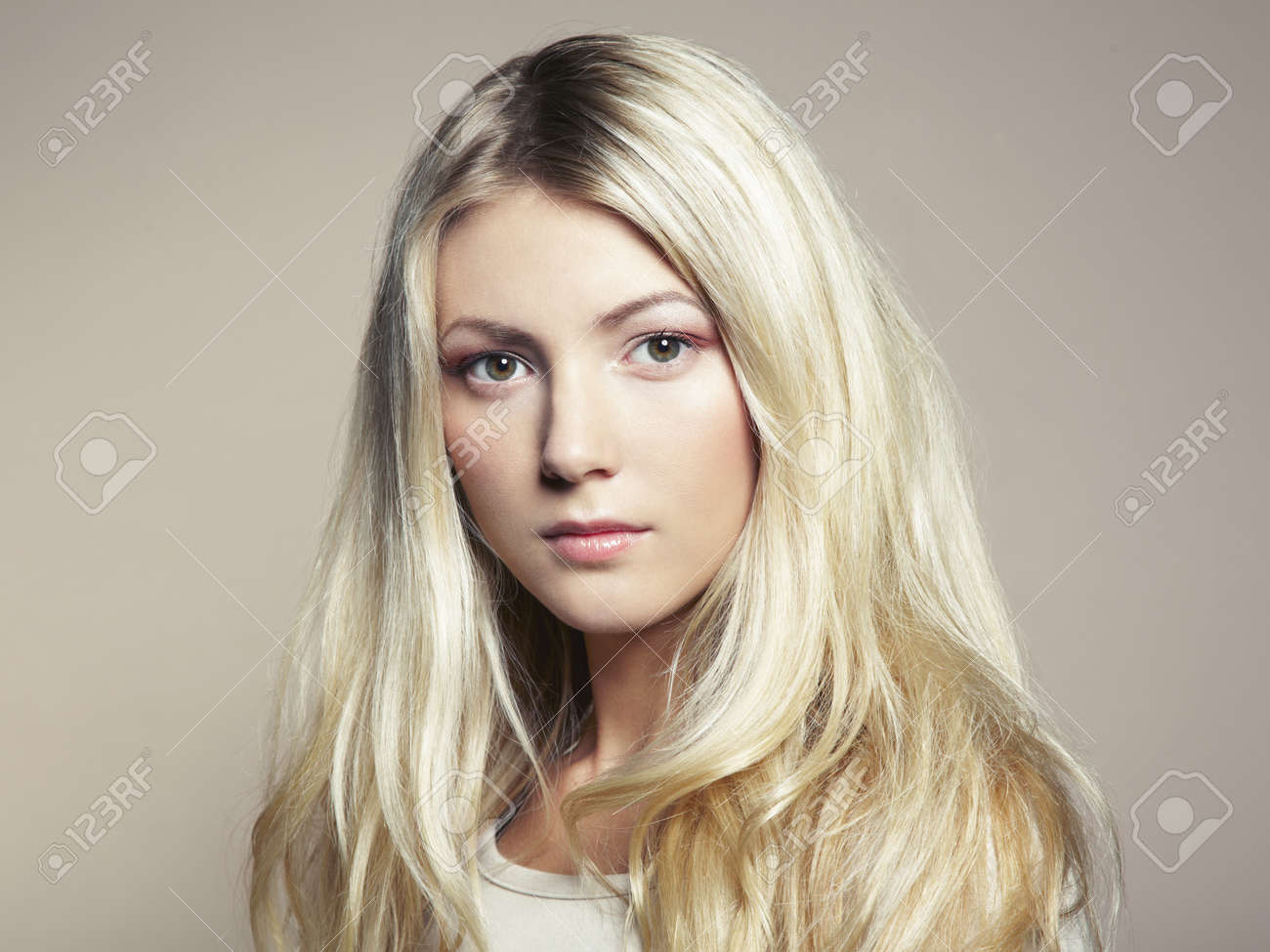 a beautiful woman with magnificent hair Stock Photo - 15502104
