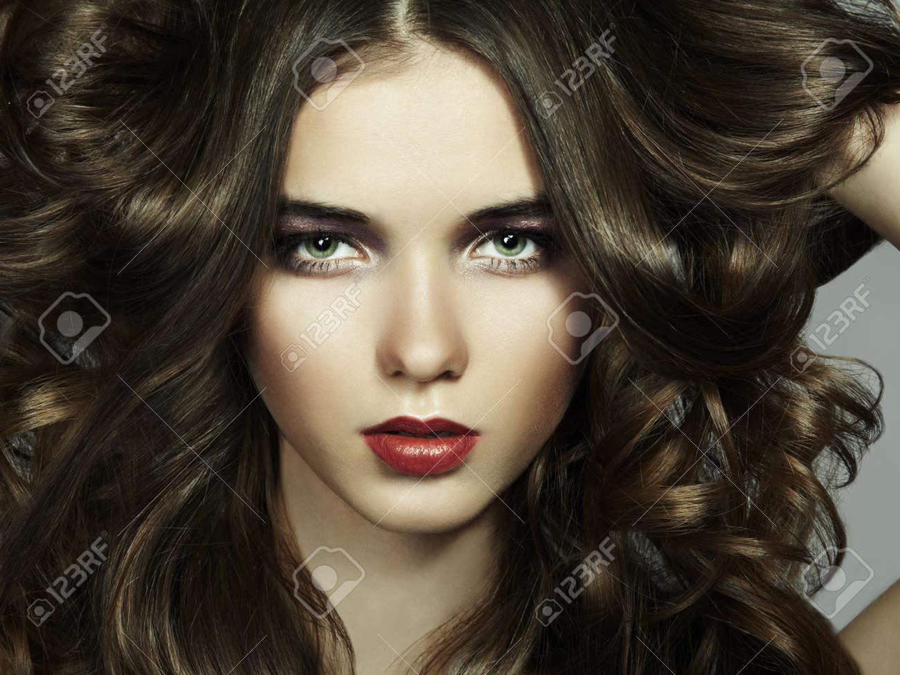 Fashion portrait of young beautiful woman. Close-up Stock Photo - 16333357