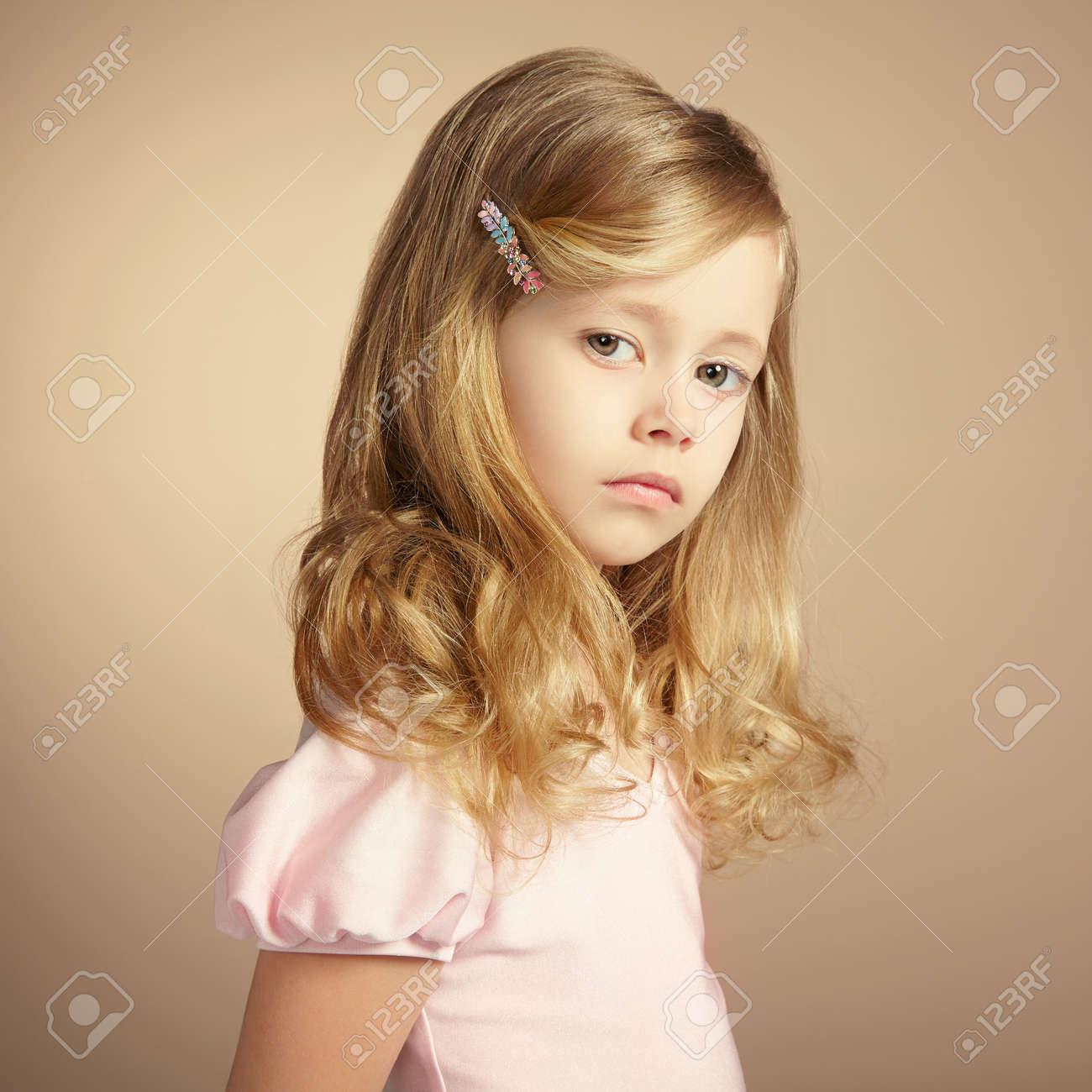 e8f6f342b33 Portrait of pretty little girl. Fashion photo Stock Photo - 20785885