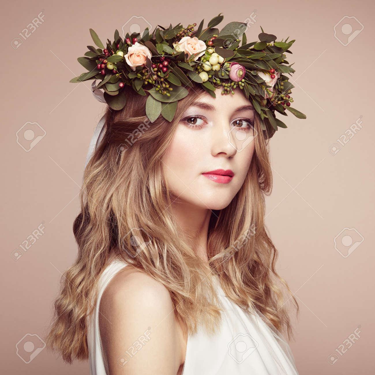 Corona fiori testa