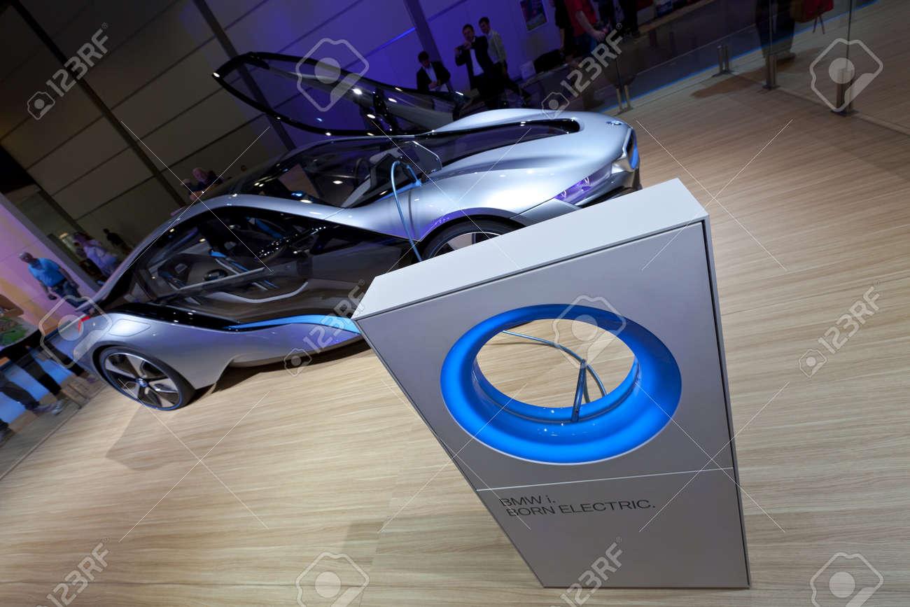 Leipzig, GERMANY, Juni 02, 2012 - BMW shows their electric concept car i8 at AMI Leipzig 2012. Stock Photo - 14720686
