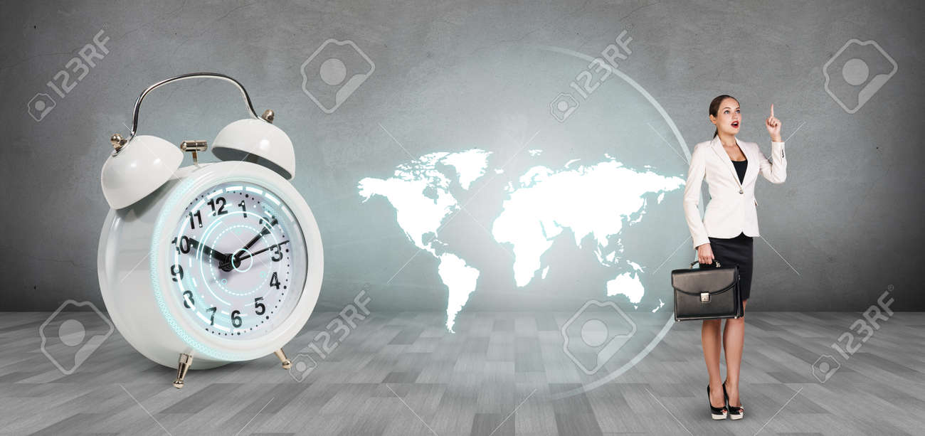 Classical alarm clock project world map on the gray background classical alarm clock project world map on the gray background stock photo 55212796 gumiabroncs Image collections