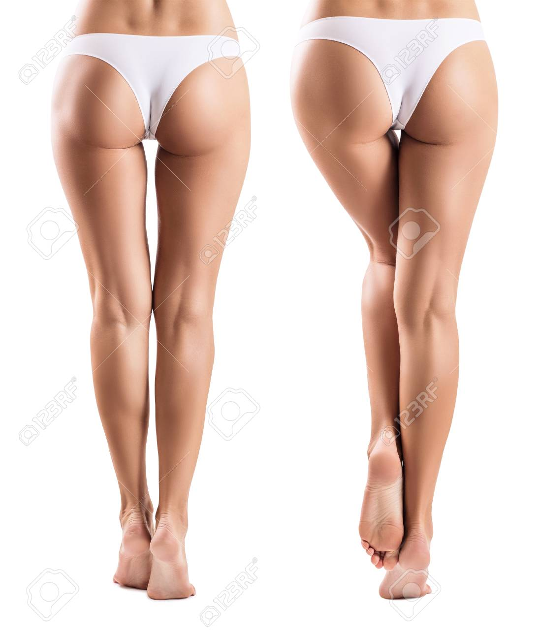 Collage with perfect legs from different view. - 91087056