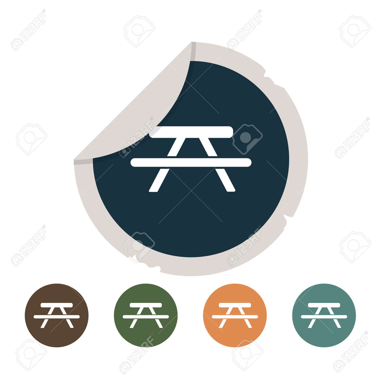 Picnic table icon royalty free cliparts vectors and stock picnic table icon stock vector 50343238 biocorpaavc