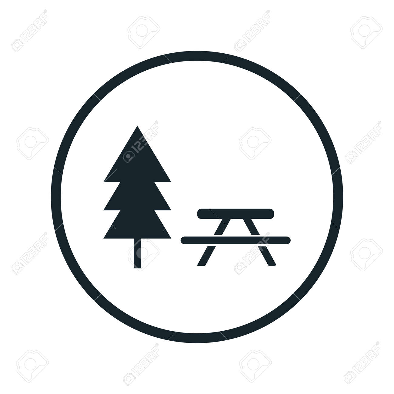 Picnic table icon royalty free cliparts vectors and stock picnic table icon stock vector 50343482 biocorpaavc