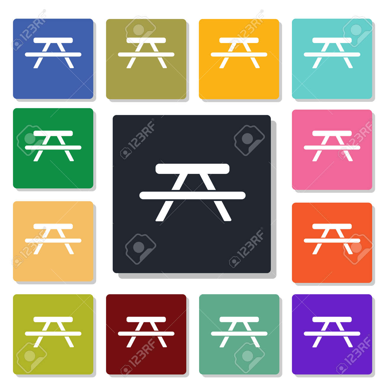 Picnic table icon royalty free cliparts vectors and stock picnic table icon stock vector 50381989 biocorpaavc