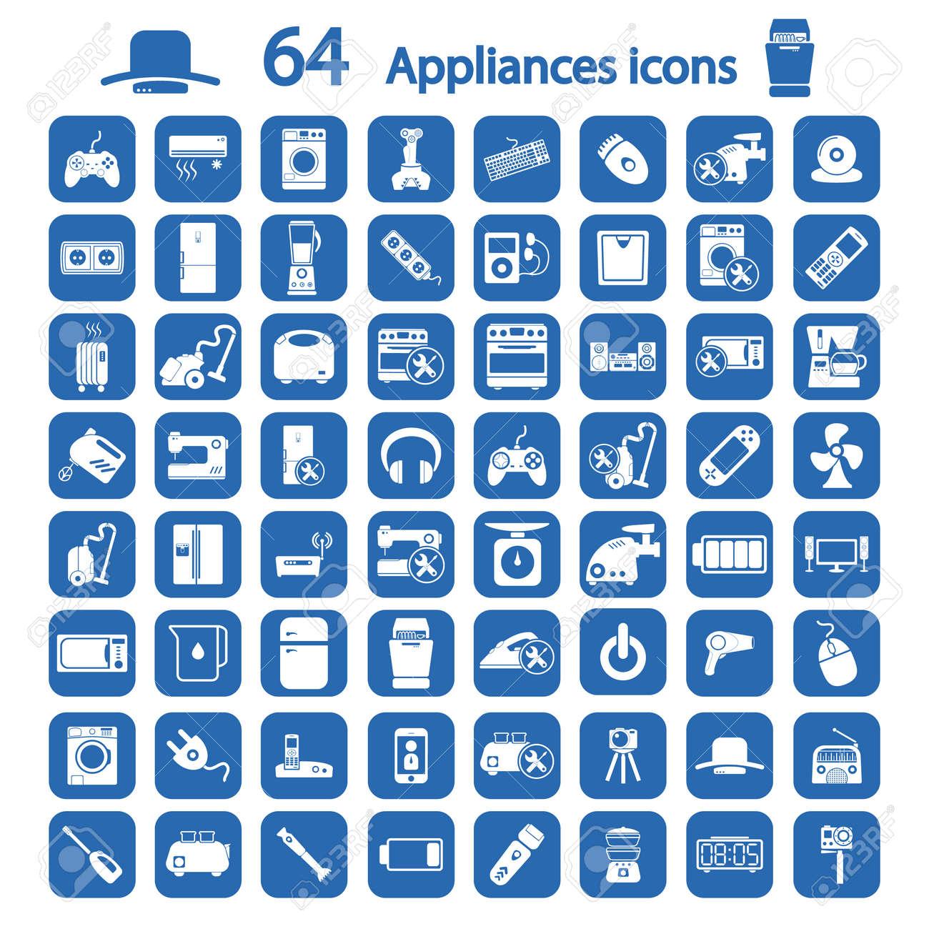 appliances icons set - 50771339