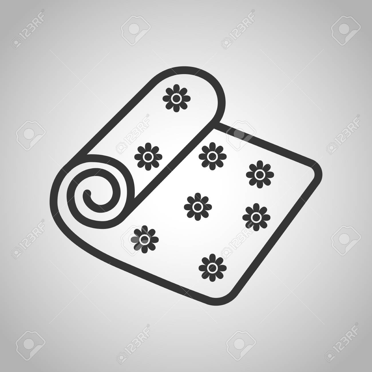 Yoga Mat Icon Royalty Free Cliparts Vectors And Stock Illustration Image 52403982
