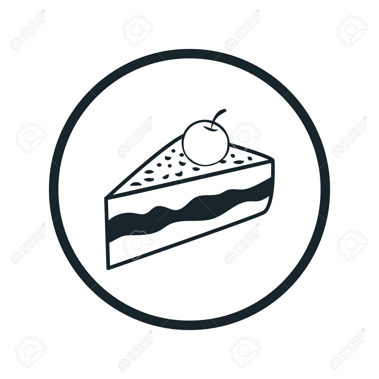 Cake Icon Royalty Free Cliparts Vectors And Stock Illustration