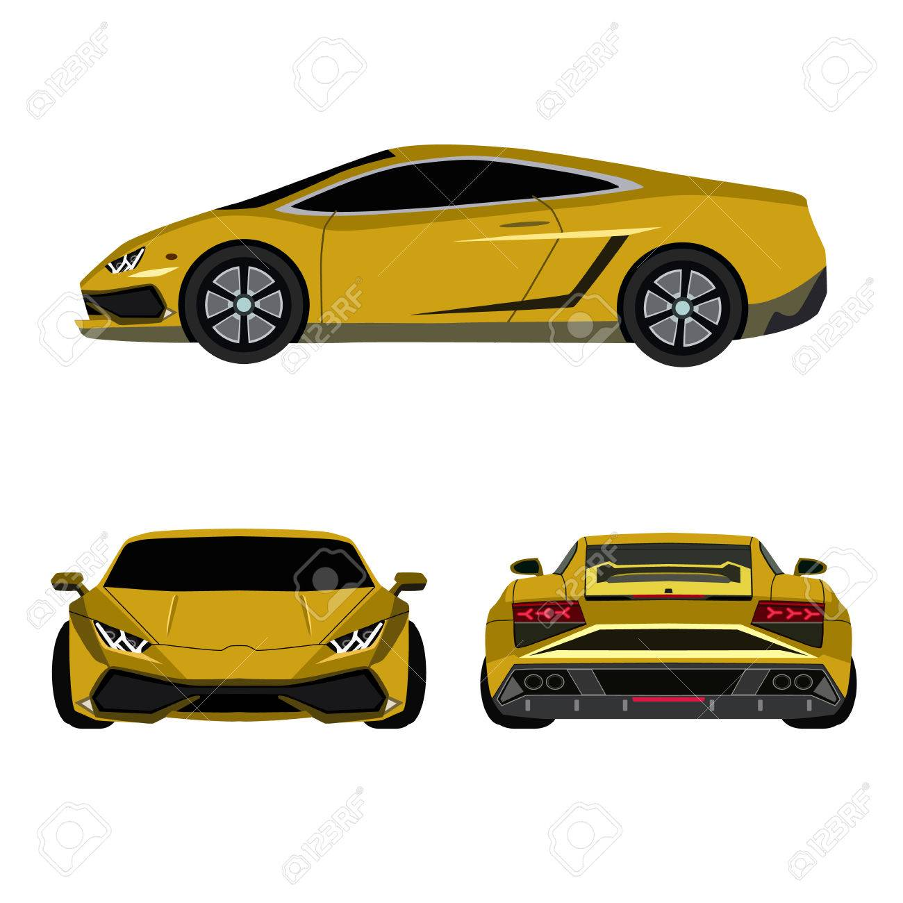 Super Car Flat Icon Royalty Free Cliparts Vectors And Stock