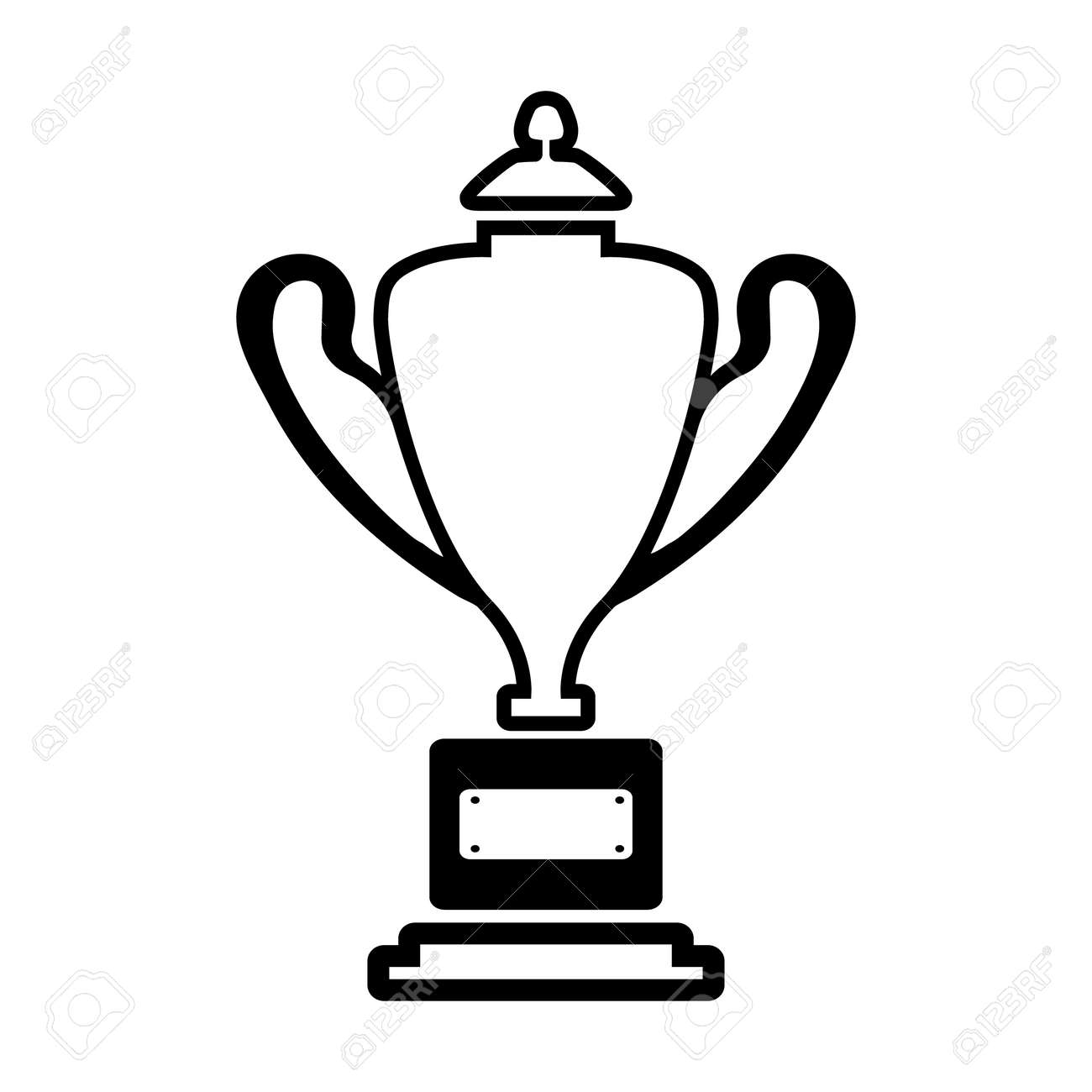 Trophy Line Simple Icon Stock Vector