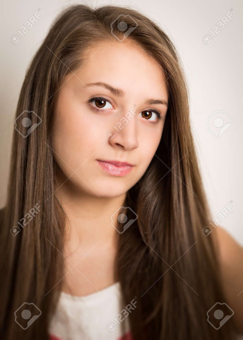 Seer's Art Spam 2.0  - Page 3 30400068-portrait-of-a-beautiful-young-brunette-teenage-girl-in-a-pink-outfit-with-long-brown-hair-and-brown-