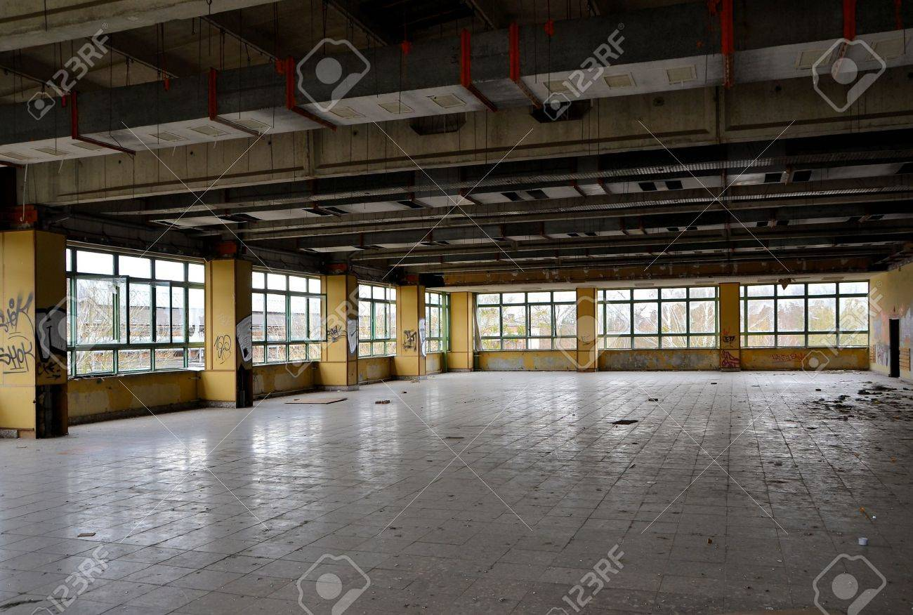 former dining room in a disused factory Stock Photo - 19107081