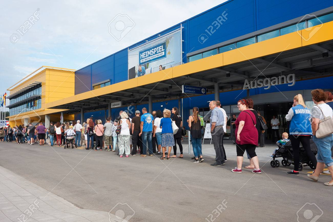 Magdeburg Germany August 31 2017 Ikea Branch In Magdeburg