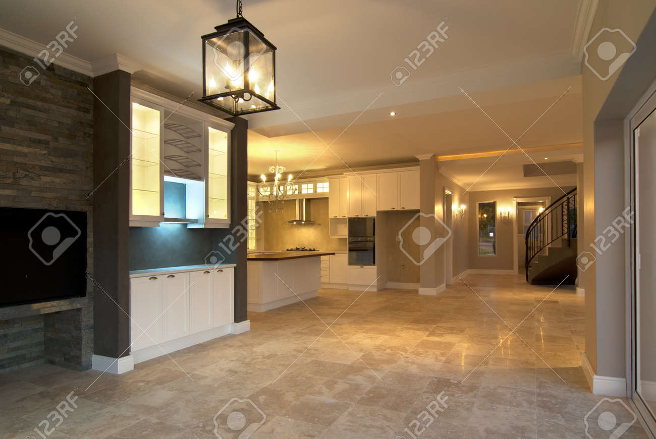 modern house lights. Empty lounge inside a modern house with some lights turned on Stock Photo  10715527 Lounge Inside A Modern House With Some Lights Turned On