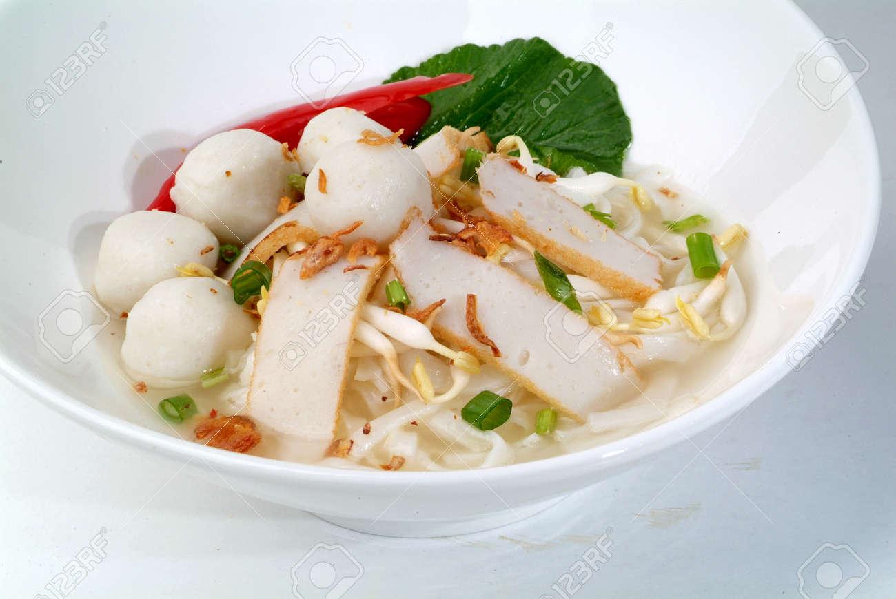 fish ball noodles - malaysian chinese food Stock Photo - 9267595