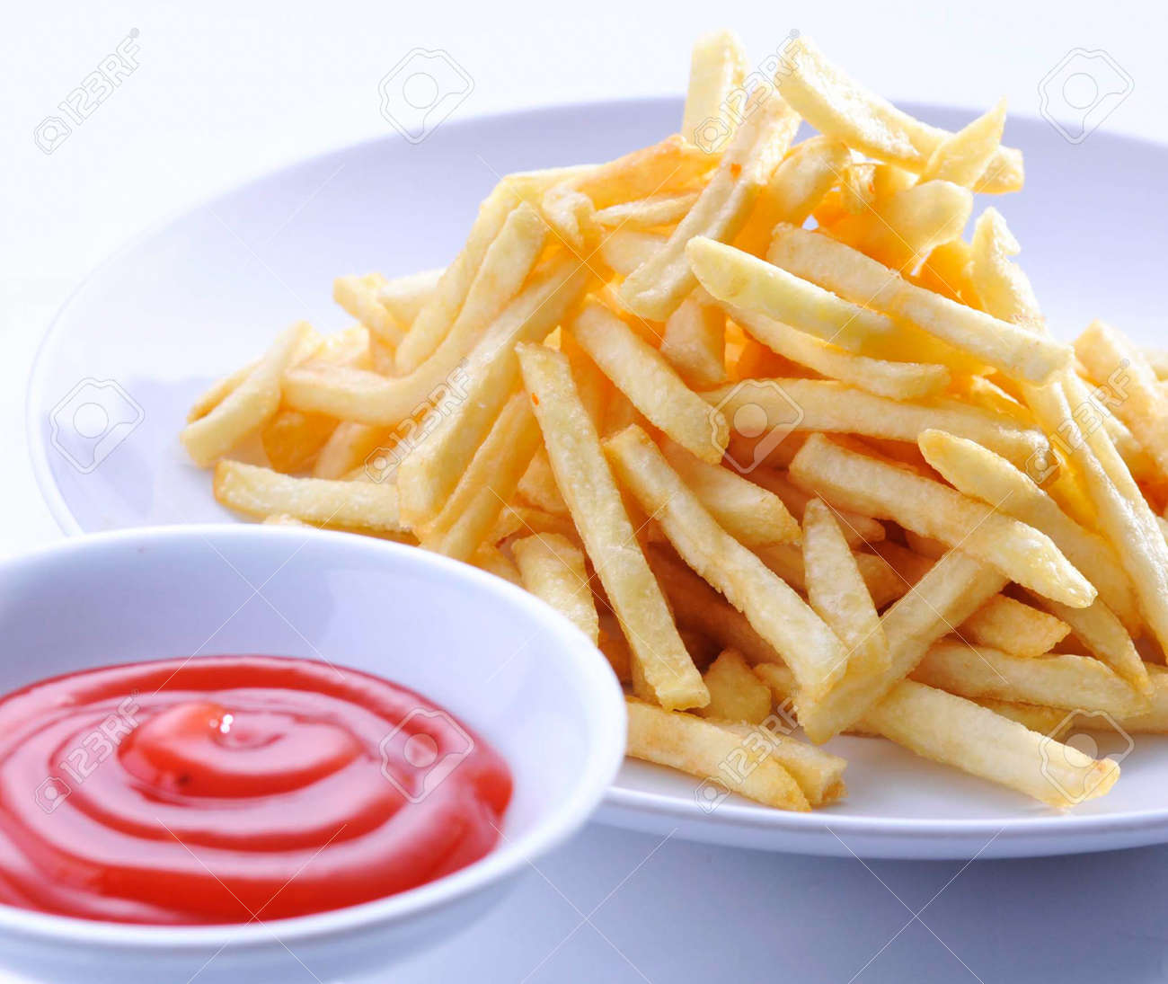 French Fries on a white background Stock Photo - 13202430