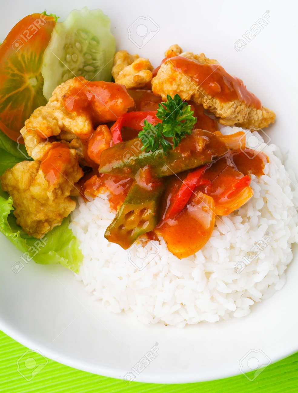 pork sweet and sour pork saia food. Stock Photo - 14910779