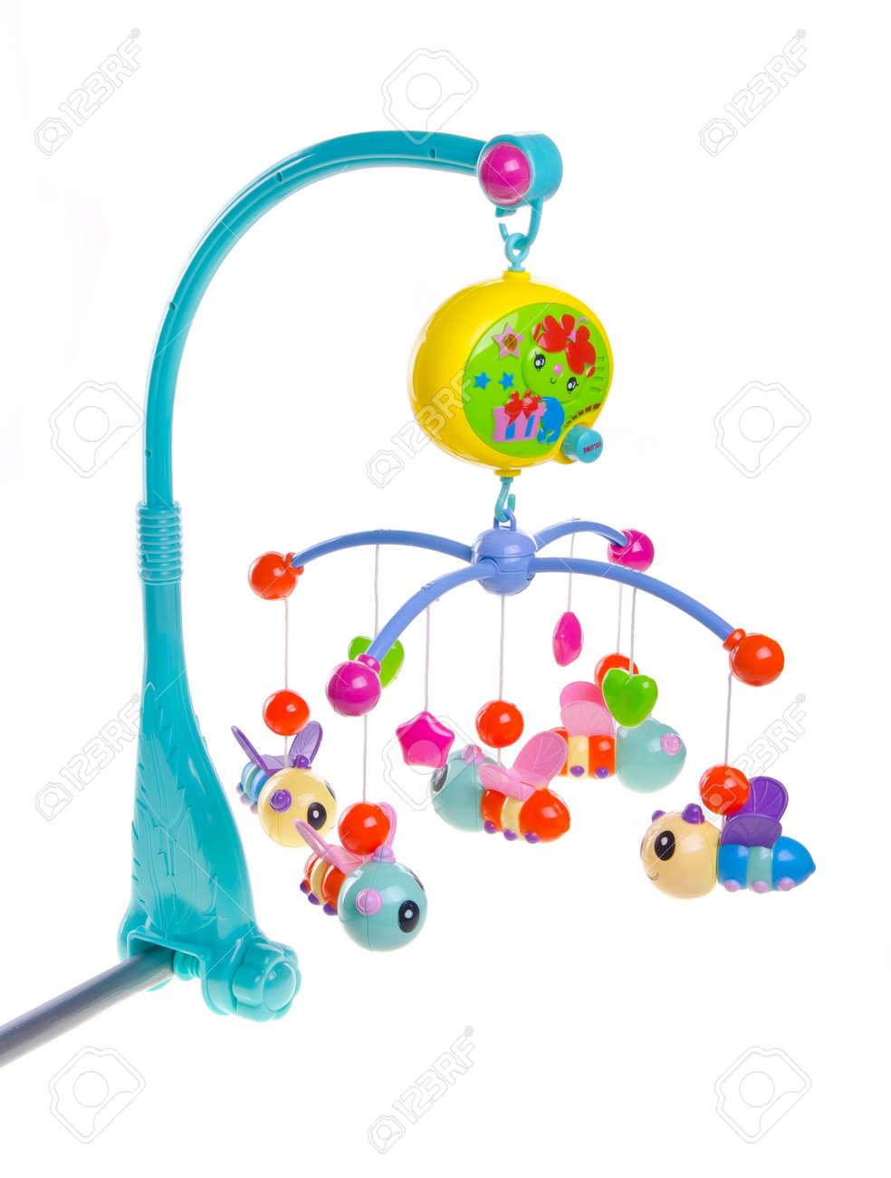 Hangende Spielzeug Ein Babybett Angebracht Toys Sind Eigentum