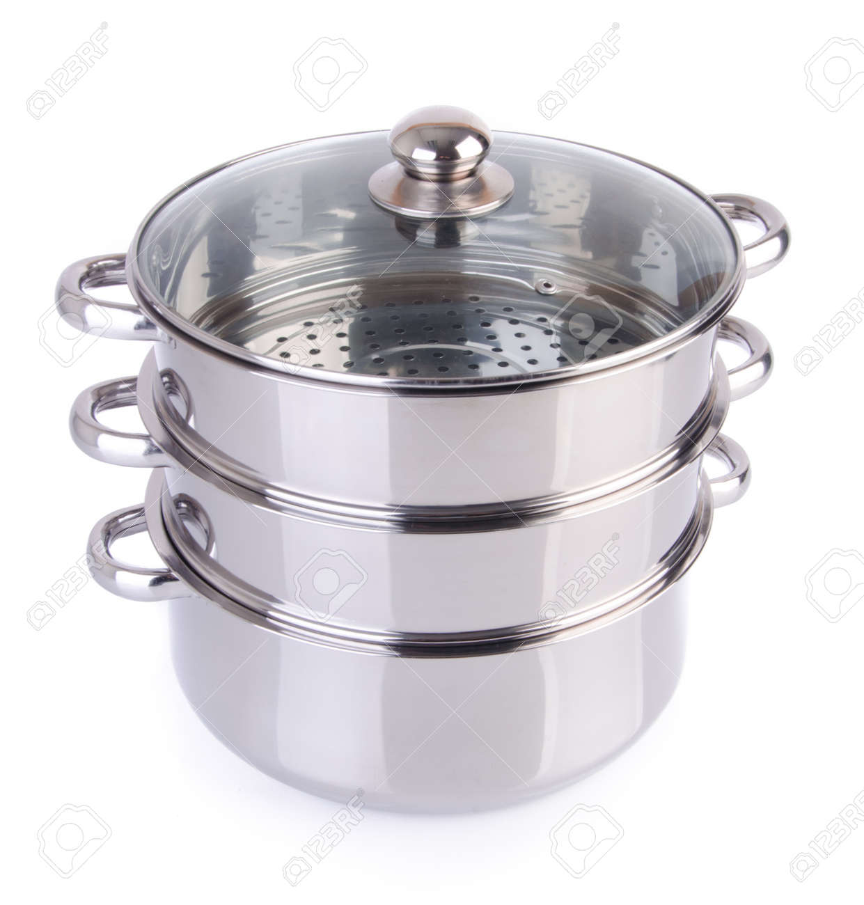 steamer pan on white background Stock Photo - 18289604