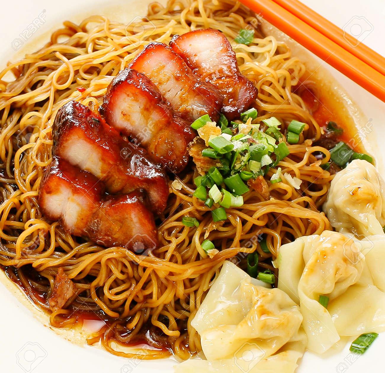 pork noodle  BBQ pork noodle bowl