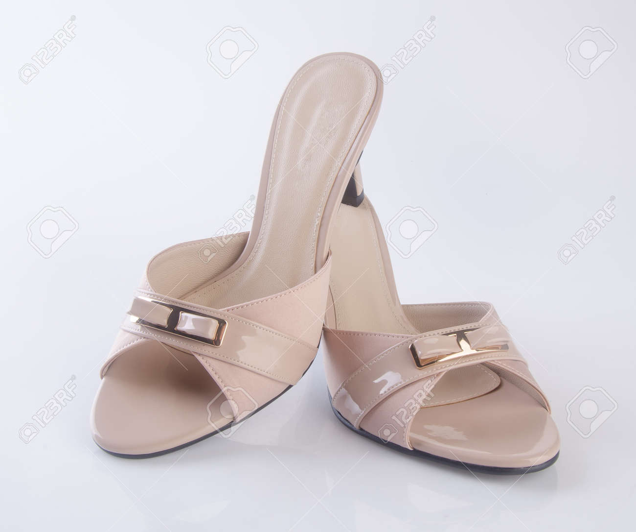sleek buy sale well known Shoe Or Brown Colour Casual Woman Shoes On A Background Stock ...