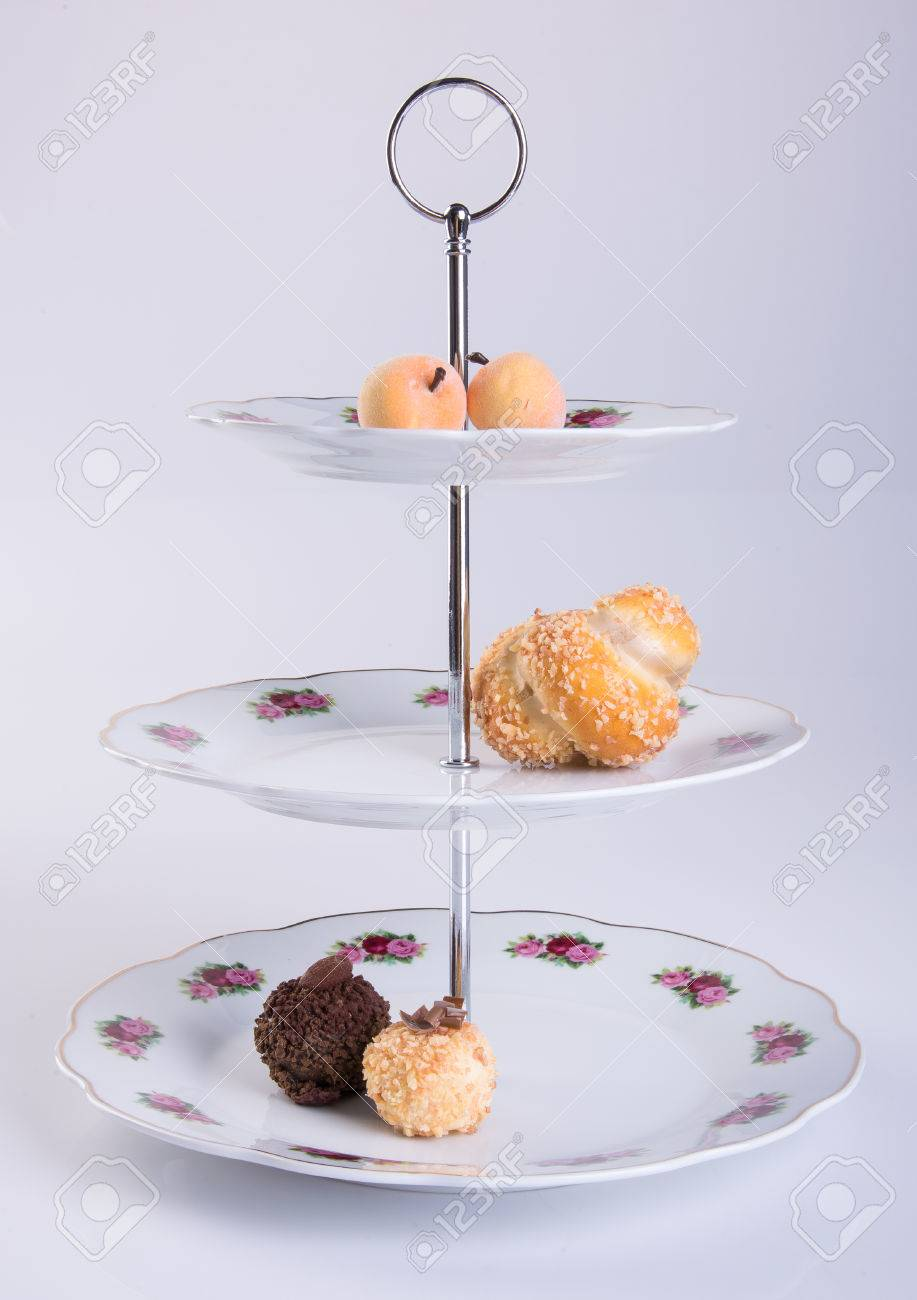 Tray Or Three Tier Serving Tray With Dessert On Background Stock Photo Picture And Royalty Free Image Image 69159813