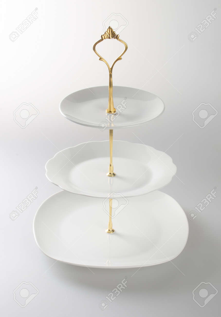 Tray Or Three Tier Serving Tray On A Background Stock Photo Picture And Royalty Free Image Image 75662929