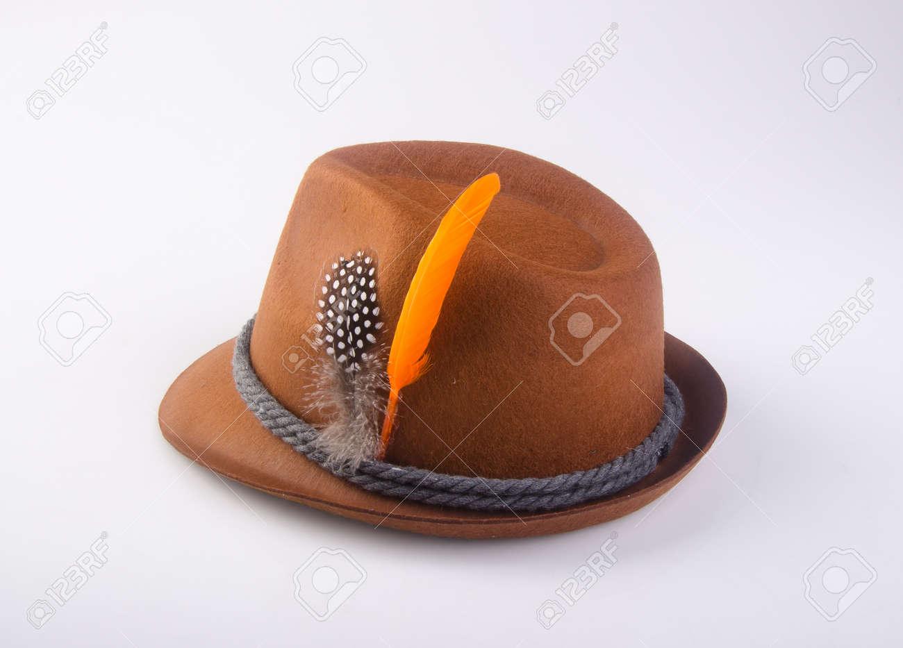 18339875629 hat or oktoberfest bavarian hat on a background Stock Photo - 96935148