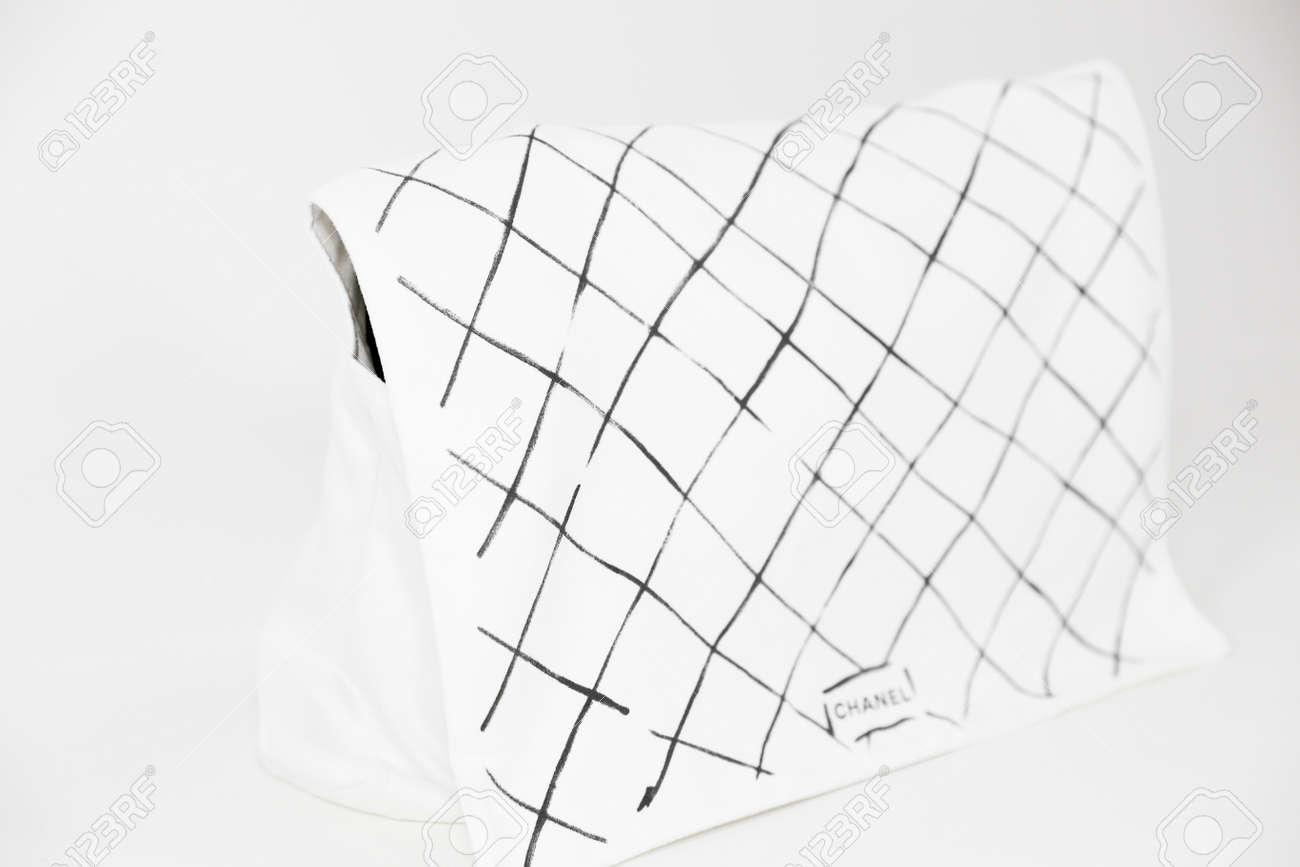 87c4d86f89d1 Foto de archivo - Philadelphia, Pennsylvania, USA, August 10, 2018: Photo  of black Chanel handbag with Chanel dust bag brand Editorial on white  background.