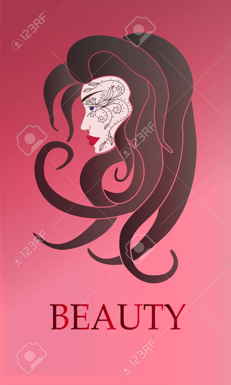 Beauty Woman Vector Illustration Design For Beauty Salon Flyer Or Banner Cosmetics Beauty Health And Spa Fashion Eps 10 Royalty Free Cliparts Vetores E Ilustracoes Stock Image 50715154