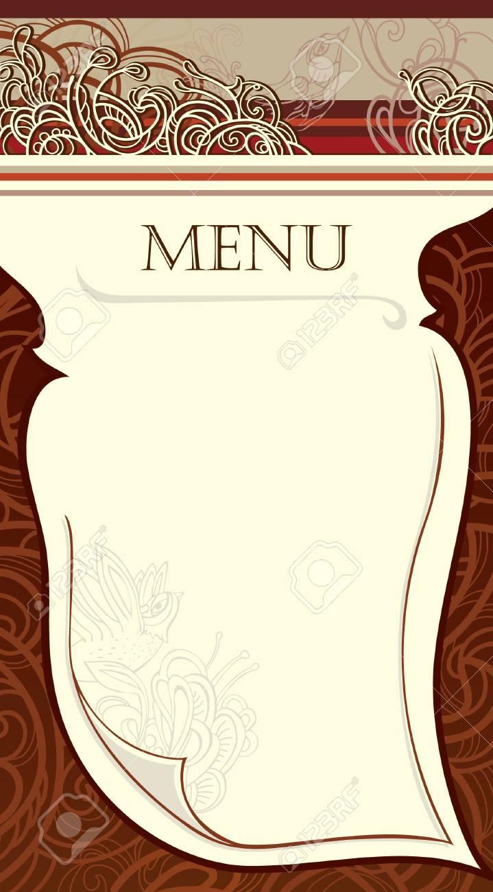 design of the restaurant menu. vector Image. Stock Vector - 13403993