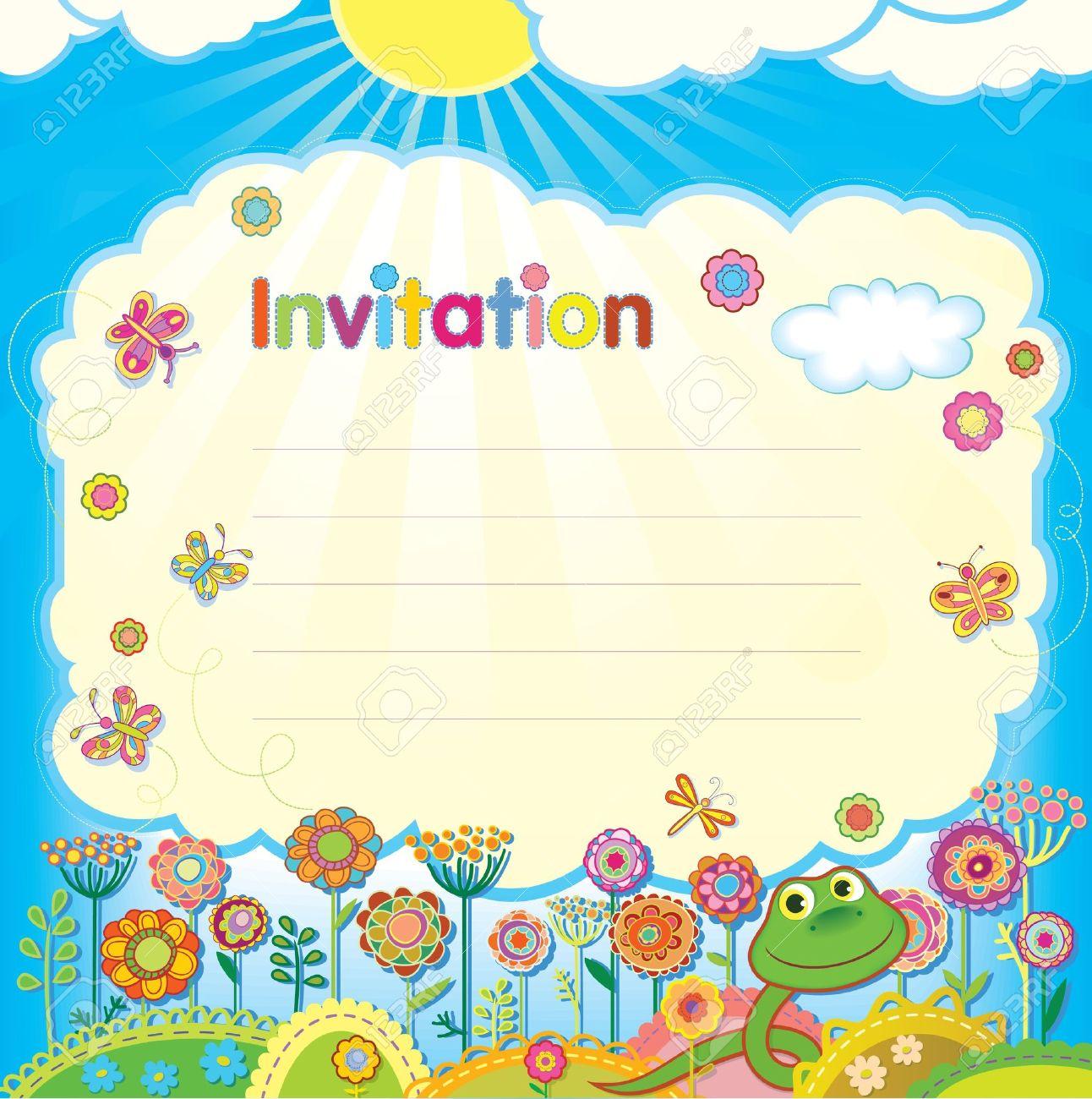 Tarjeta Ilustración Invitación Para Niños
