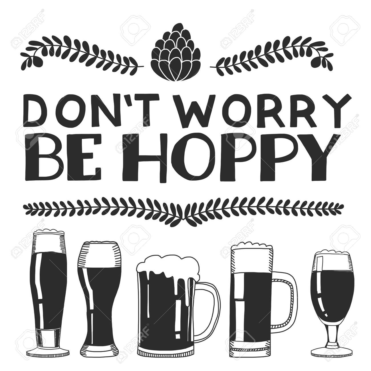 Hand drawn image with quote about beer Isolated on white background - 54088304