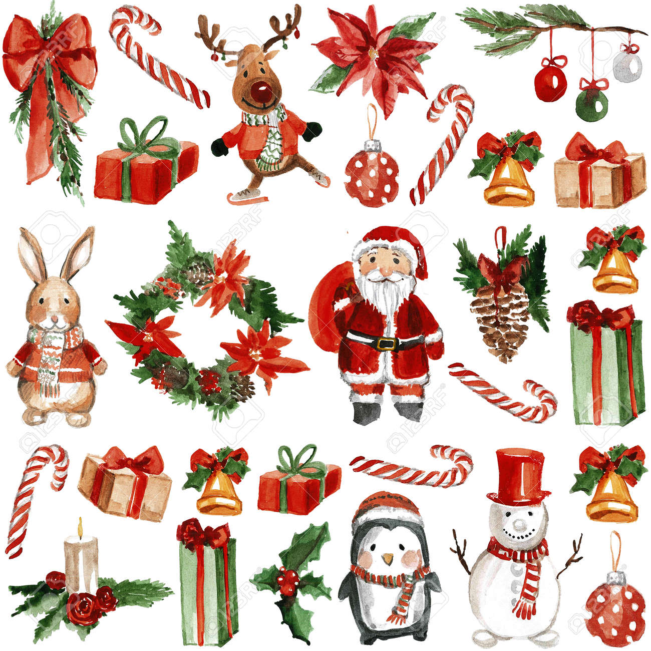Merry Chrismtas Holly Jolly Hand drawn image - 59845576