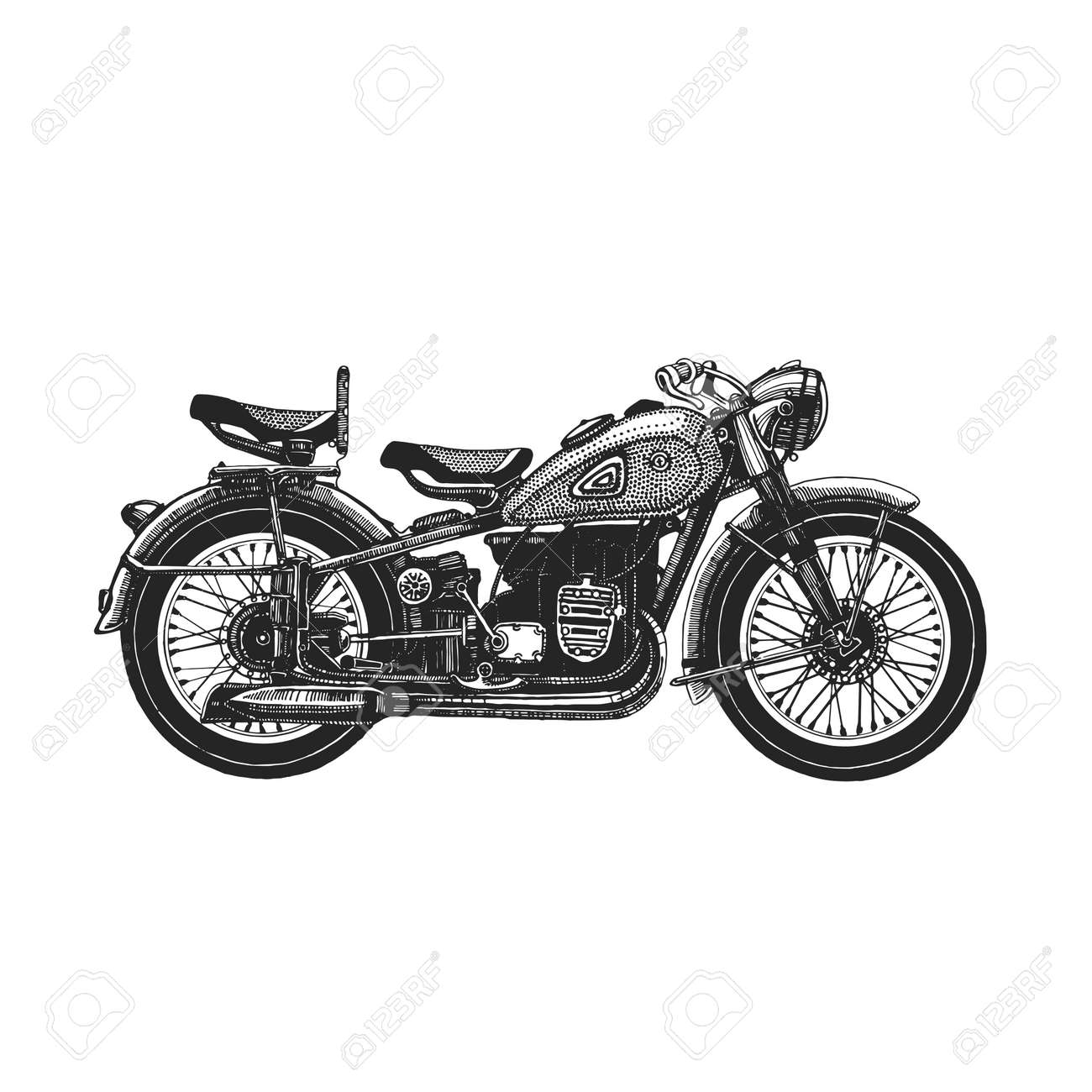 Motorcycle hand drawn icon For any kind of design - 61538816