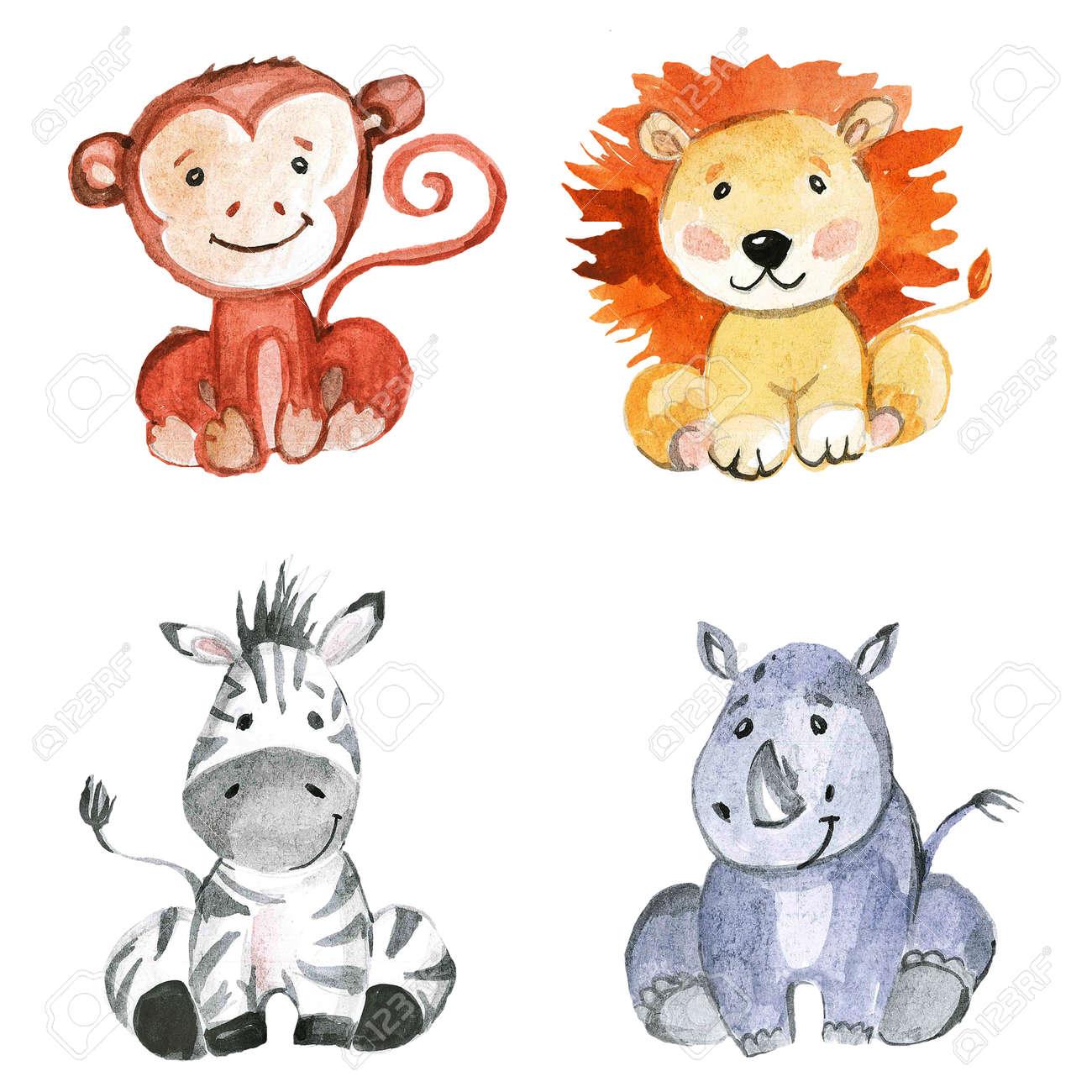 Cute Baby Animals For Kindergarten Nursery Children Clothing Kids Pattern Invitation