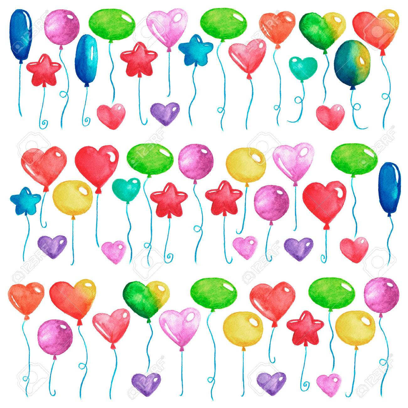 Alles Gute Zum Geburtstag Party Luftballons Bunte Luftballons Für