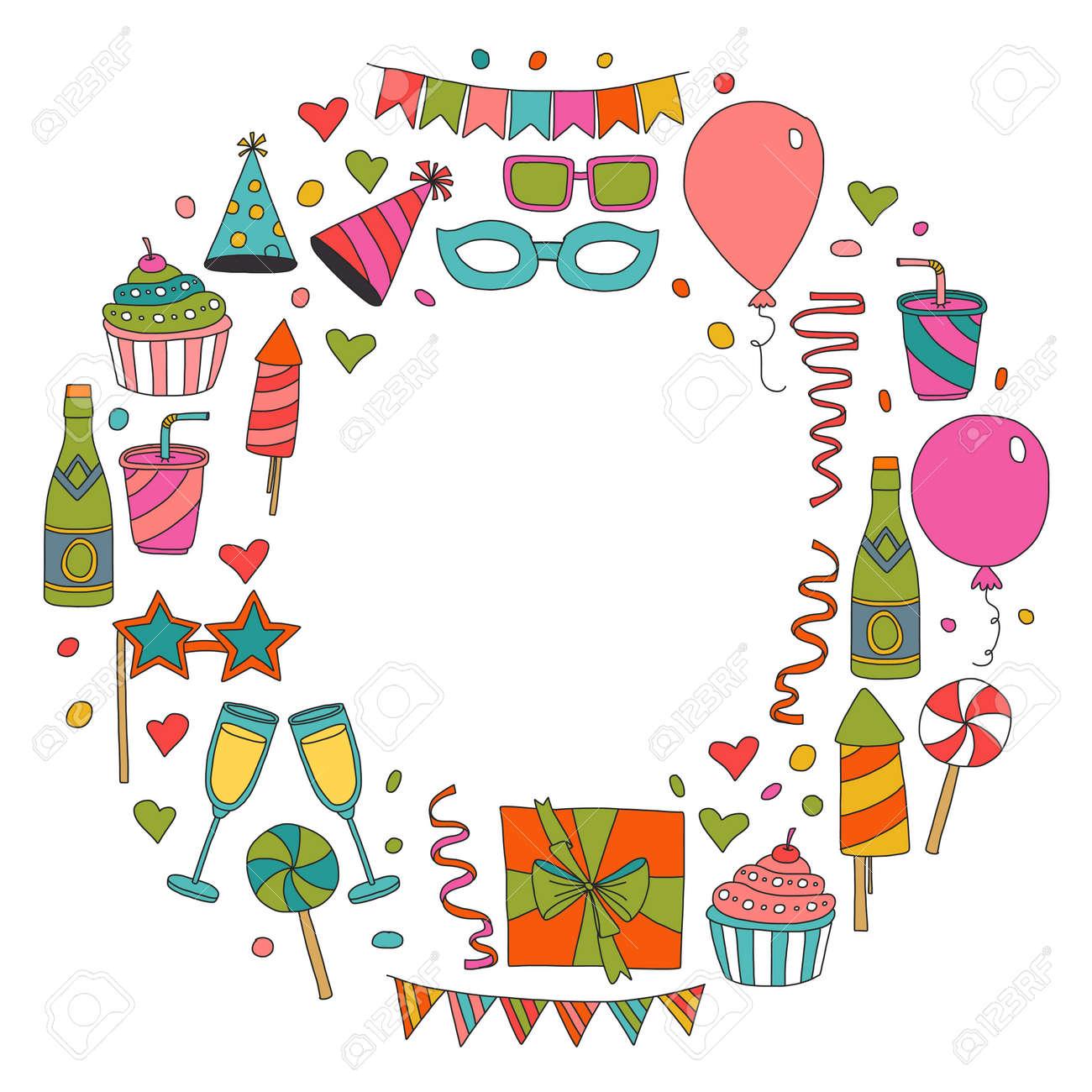 Modele De Carte De Joyeux Anniversaire Dessin D Enfants Fete D