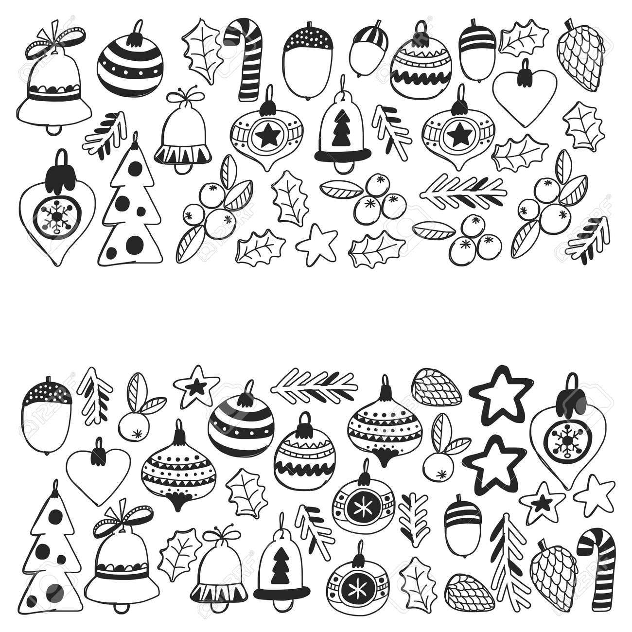 Christmas Patterns For Coloring Book Frame Wth Christmas Elements