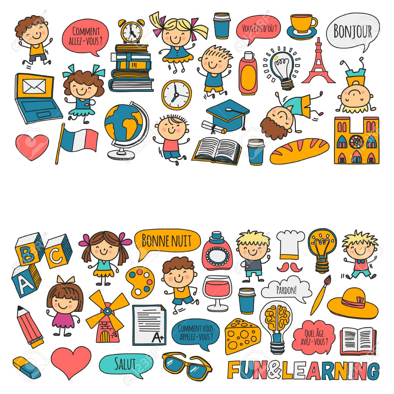 paris france french class french language boys and girls rh 123rf com Cooking Class Clip Art School Class Clip Art