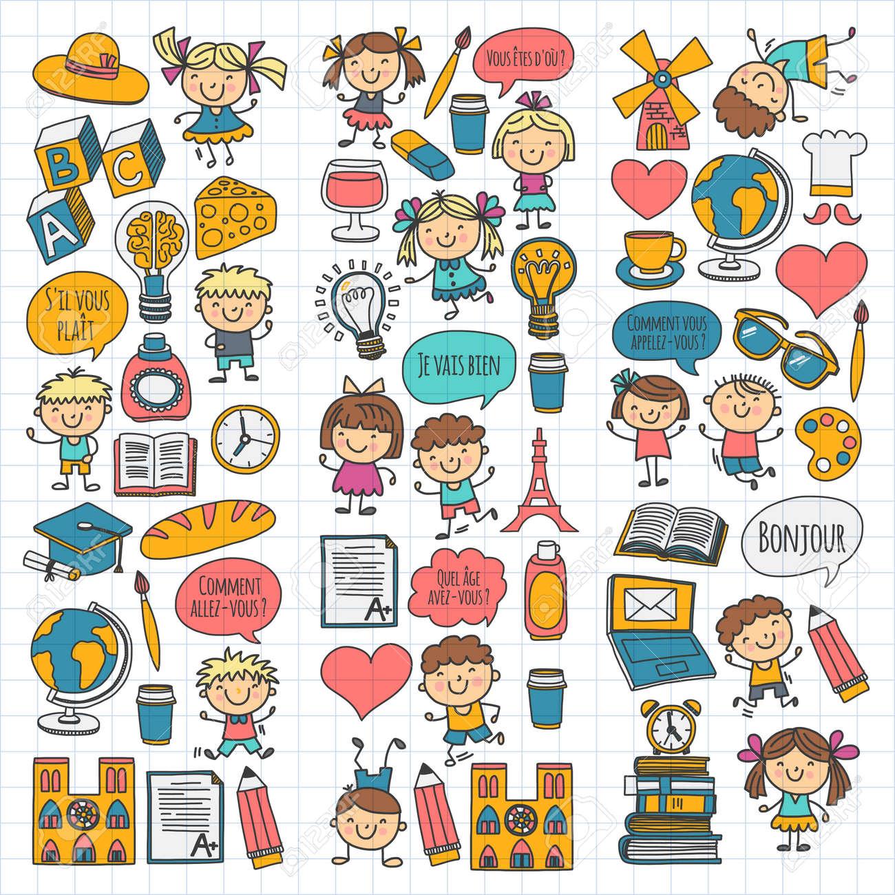 París, Francia. Clase De Frances. Idioma Francés. Niños Y Niñas ...